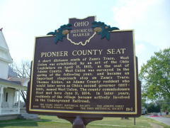 19-1 County seat side of marker
