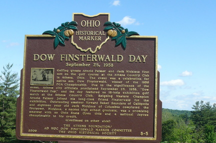 8-5 Dow Finsterwald Day marker at the Athens Country Club
