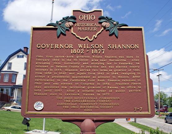 7-7 Governor Wilson Shannon 1802-1877/