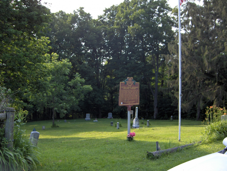 8-7 Marker and cemetery
