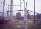 11-8 Marker is fenced in beneath water tower
