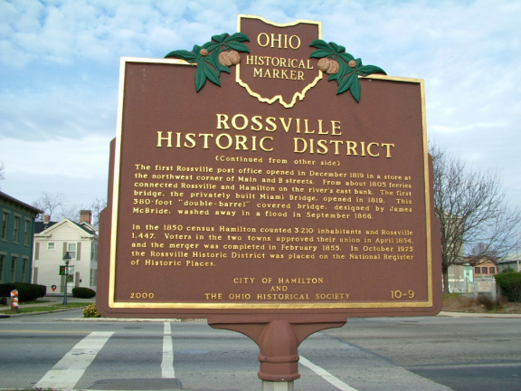 10-9 Rossville Historic District Sign 10-9