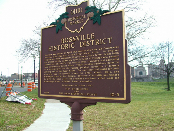 10-9 Rossville HIstoric District Sign Front