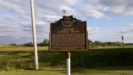 Lincoln Funeral Train marker