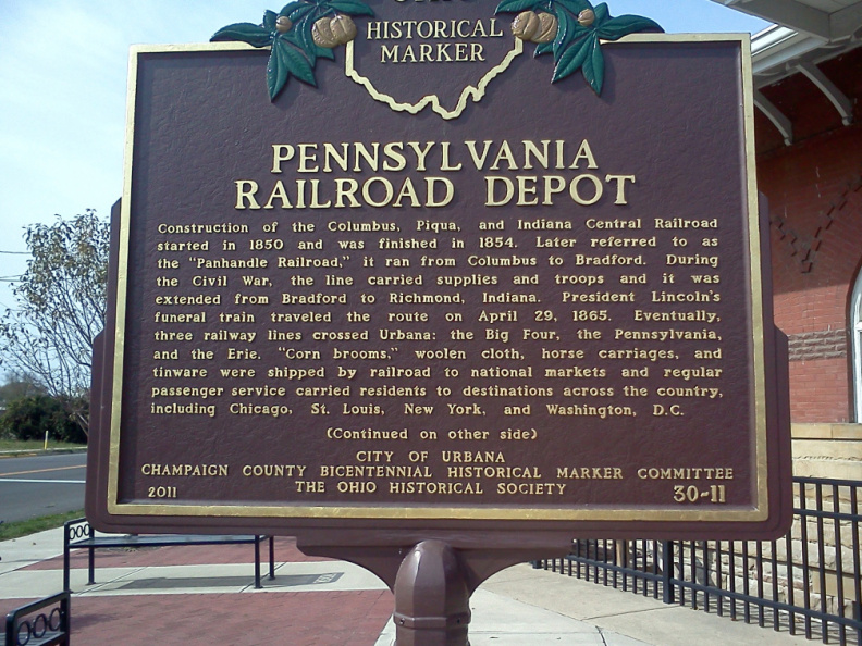30-11 Urbana Coffee House Pennsylvania Railroad Marker