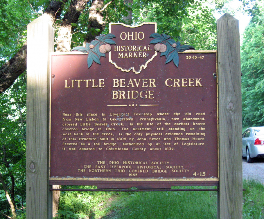4-15 Little Beaver Creek Bridge Marker 5-19-12