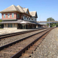 9-17 Trackside view of Depot