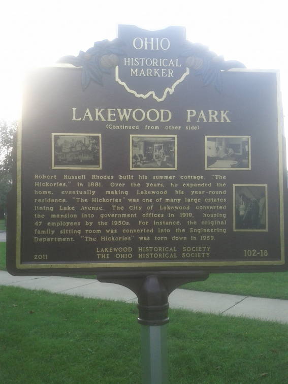 102-18 Lakewood Park Marker (Back)