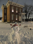 113-18 Winter Scene @ Clague House Museum Snowman