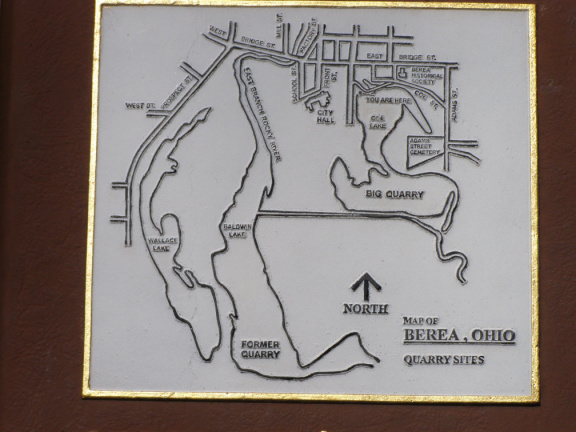 16-18 Map from the Berea Quarry side