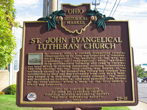 29-18 St. John Evangelical Lutheran Church Marker