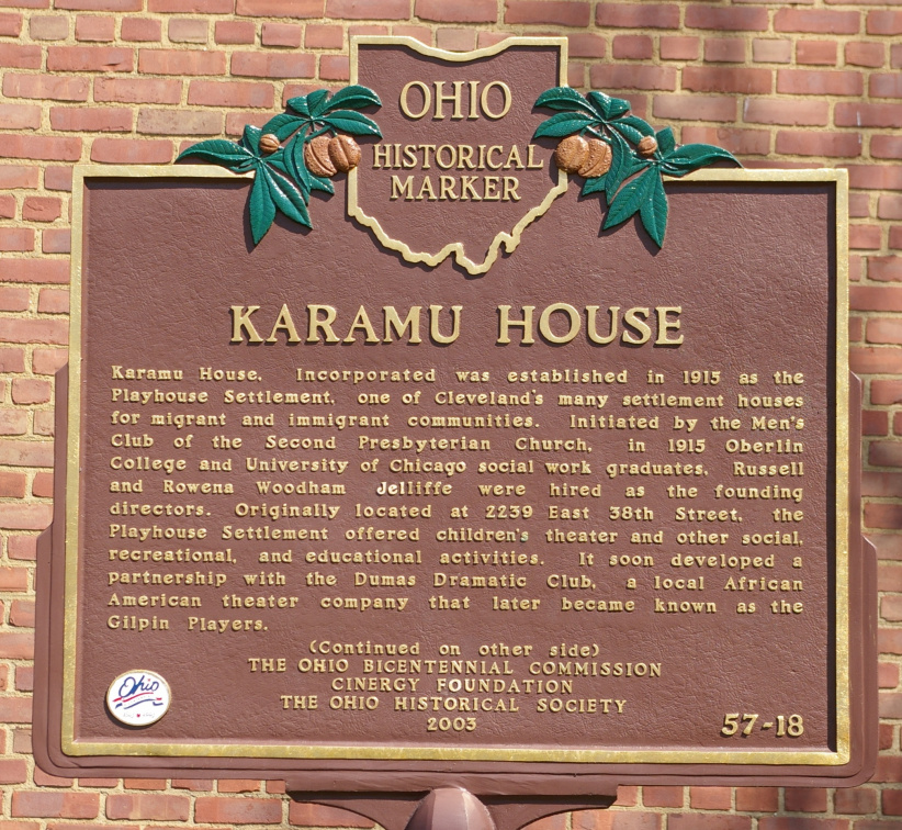 57-18 Karamu House marker, side A
