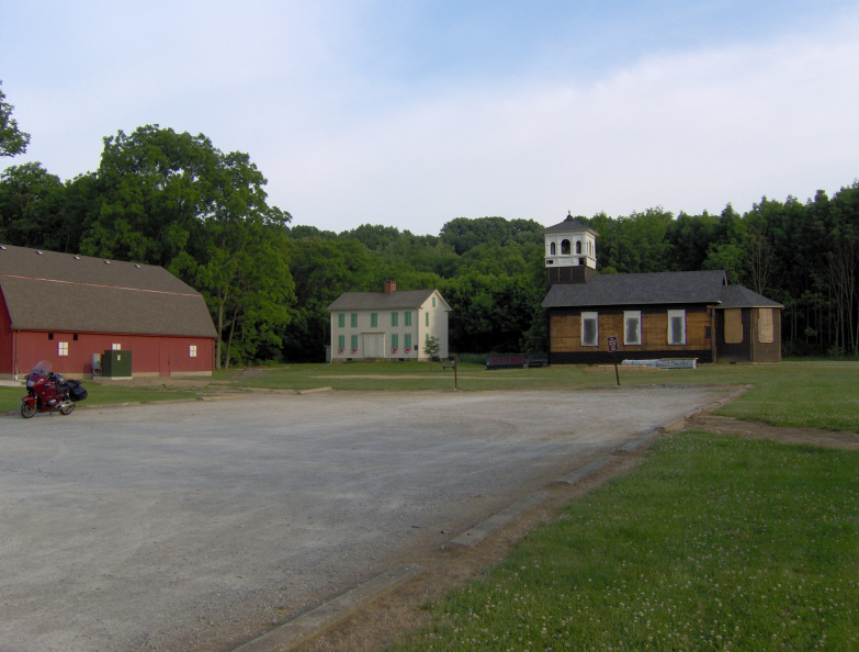 The schoolhouse was moved to Frostville, located at the corner of Lewis and Cedar Point roads.
