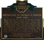 20-22 Birthplace of Thomas A. Edison (1847-1931)