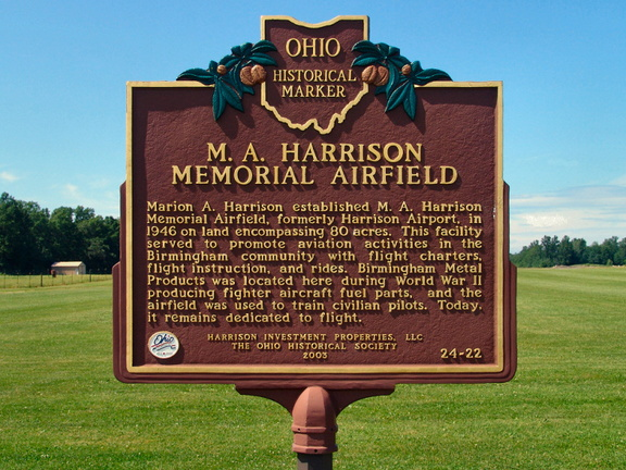 24-22 M.A. Harrison Memorial Airfield - Marker