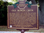 25-22 Old Woman Creek Marker