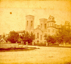 9-22 Grace Church and Sandusky High School, circa 1880