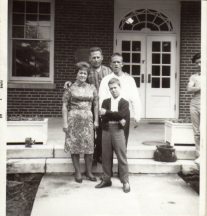 1-23 1965 B.I.S front of Cuyahoga Cottage, Chalres Muscatello visits family...