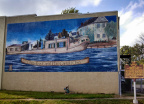 7-23 #7-23 Junction of The Ohio Erie and Lancaster Lateral Canals front with mural