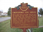 11-25 Groveport Log House Marker