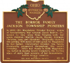 20-25 The Borror Family Jackson Township Pioneers