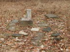 22-25 Remains of Grave Markers at Postle Family Cemetery