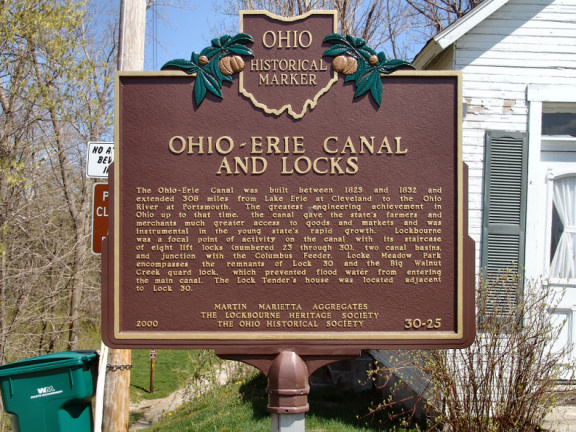 30-25 Ohio-Erie Canal and Locks, The Columbus Feeder Canal (side A)