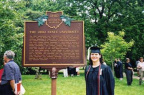 5-25 Stacia Leigh Kuceyeski, Graduation Date, June, 2001, in front of the Ohio State Marker