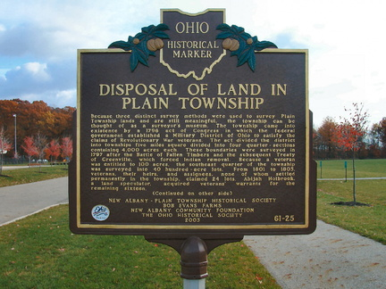 61-25 Disposal of Land in Plain Township (Side A)