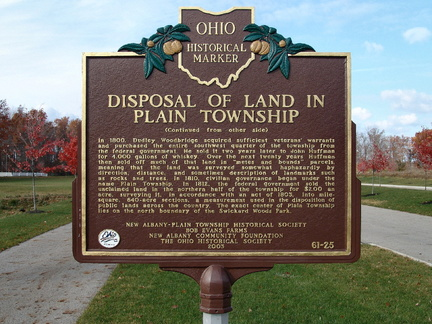 61-25 Disposal of Land in Plain Township (Side B)