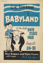 72-25 Ohio State Fair Broadside Featuring Roy Rogers (Om1602)