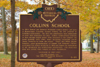 11-29 Collins School Marker - Front