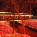 5-29 Clifton Mill Covered Bridge at Christmas