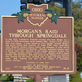 71-31 Morgan's Raid Through Springdale - Marker Front