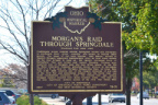 71-31 Morgan's Raid Through Springdale - Marker Back