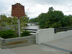 4-32 The Marker with the Blanchard River in the background