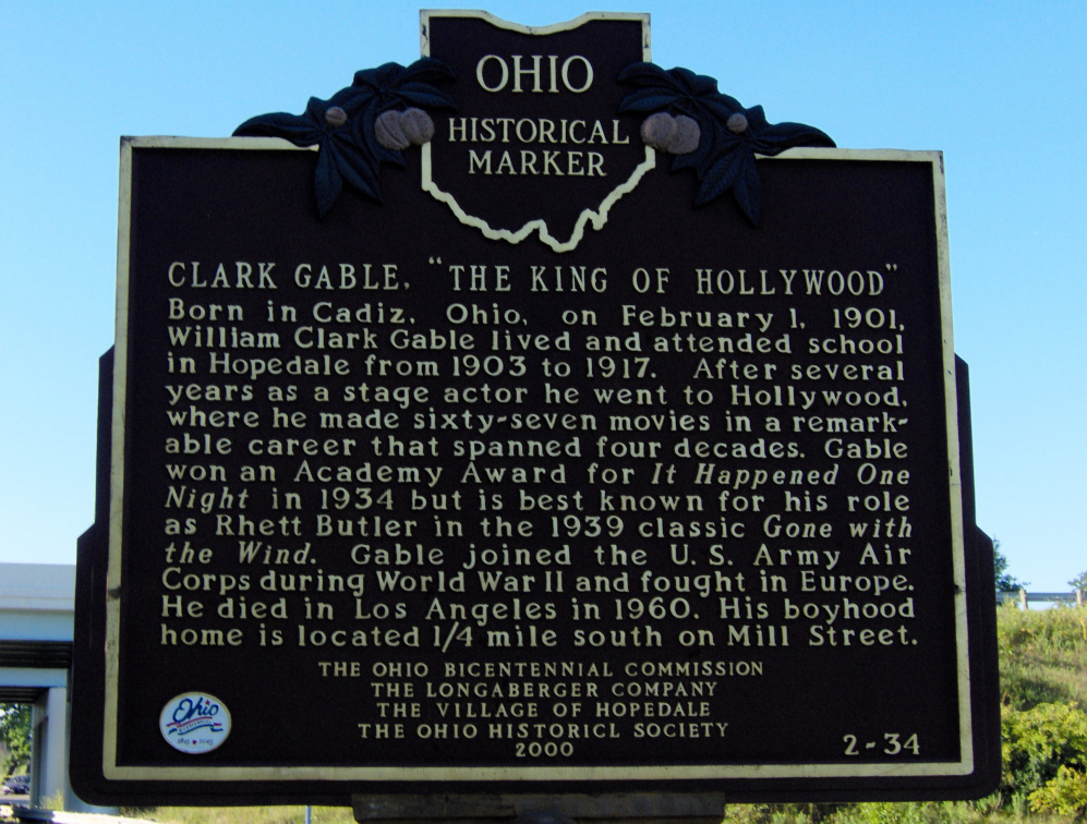 2-34 Clark Gable marker side