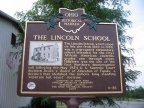 6-36 Lincoln School Marker