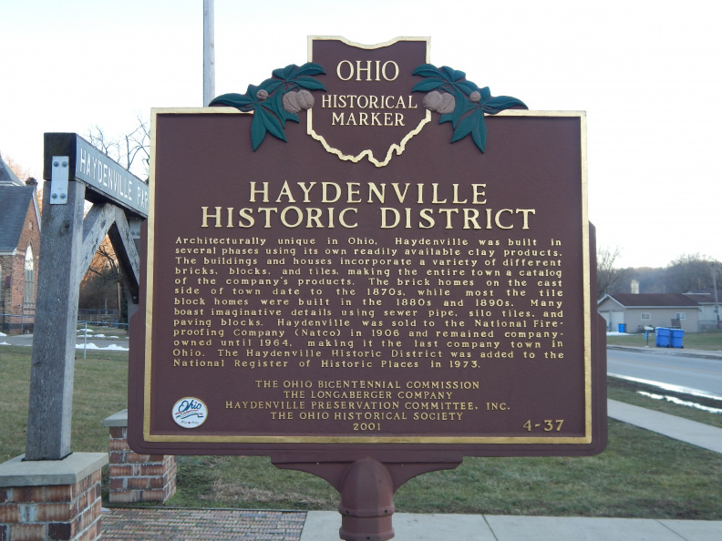 4-37 Marker, Side B, now located at the Haydenville Park