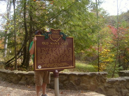 5-37 Old Man's Cave Marker, taken 10.13.2008