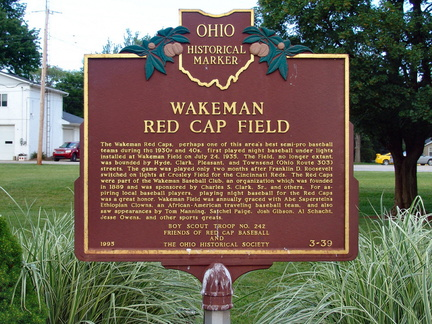3-39 Wakeman Red Cap Field - Marker