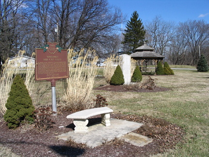 3-39 Wakeman Red Cap Field Marker and Park