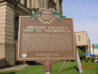 8-41 Abraham Lincoln's Visit to Steubenville Marker