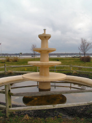 12-45 This fountain is the last remaining feature of Buckeye Lake Park.