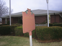 5-45 Marker Outside Library