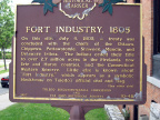 10-48 Fort Industry Marker