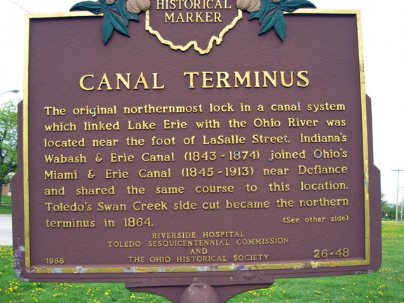 26-48 Canal Terminus Marker