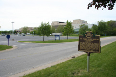 57-48 View of marker situated in the southeast corner of the University of Toledo Medical College campus