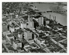 7-48 Aerial view of downtown Toledo