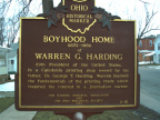 2-51 Boyhood Home of Warren G. Harding Marker